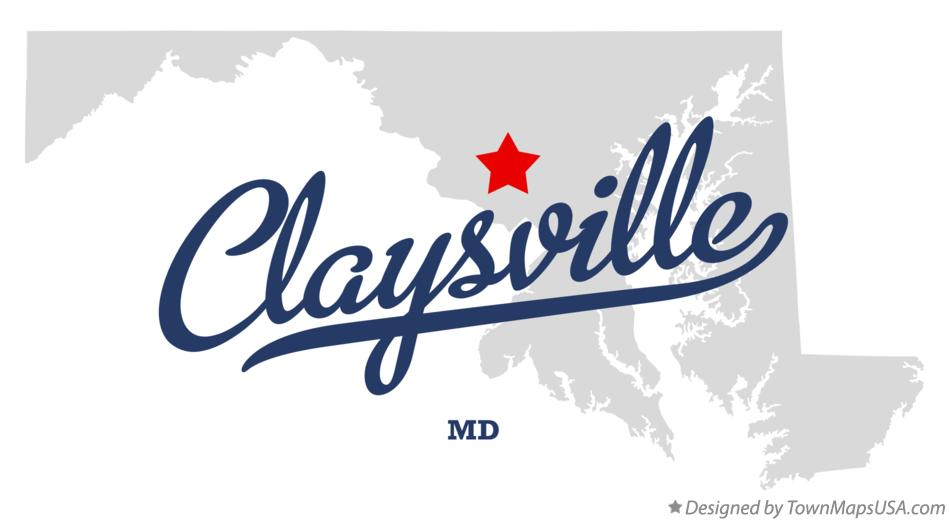Map of Claysville Maryland MD