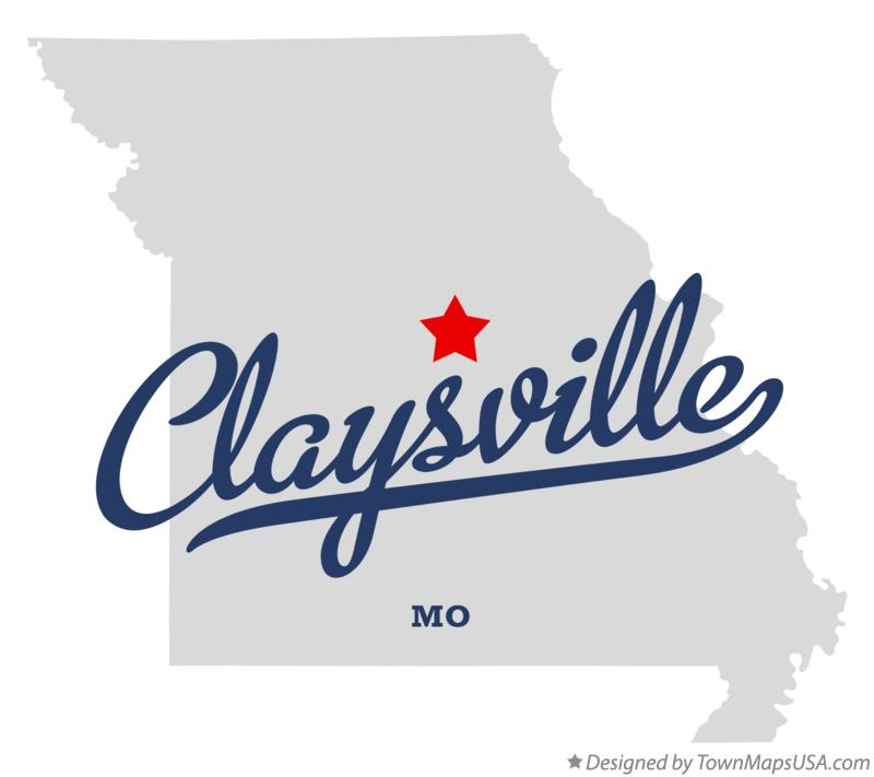 Map of Claysville Missouri MO