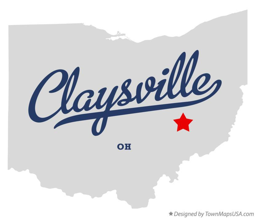 Map of Claysville Ohio OH