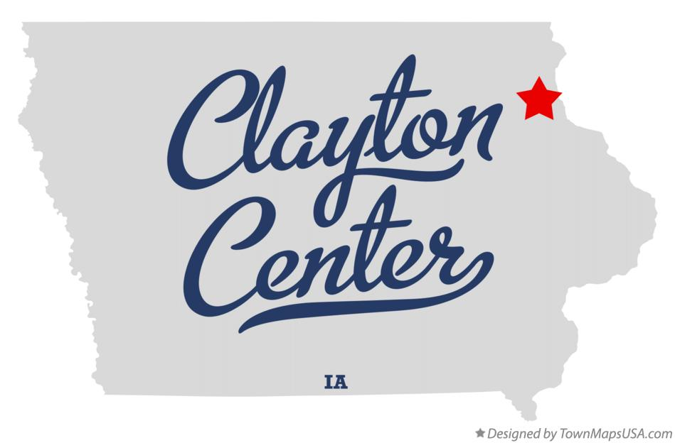 Map of Clayton Center Iowa IA