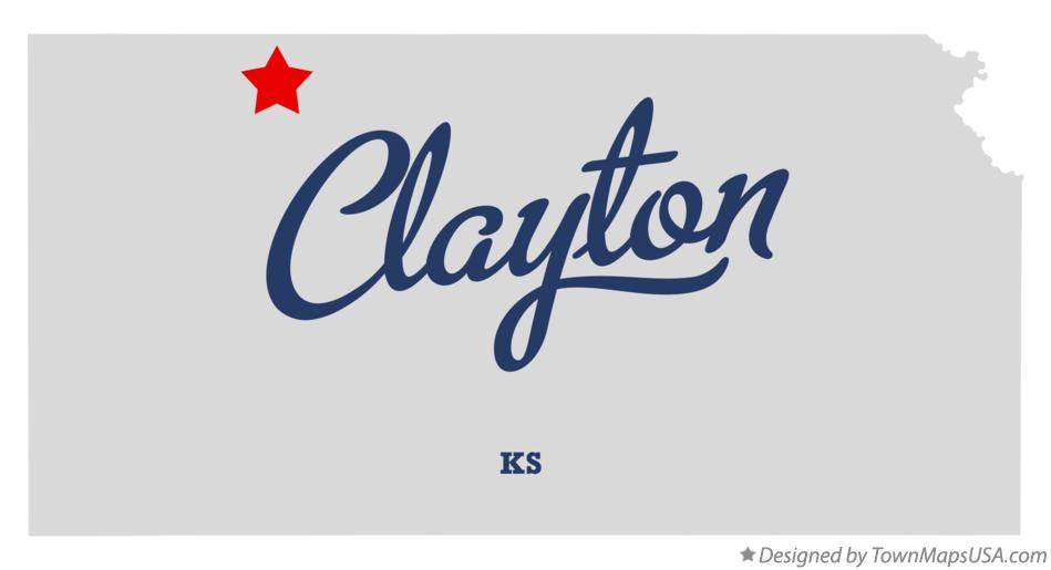 Map of Clayton Kansas KS