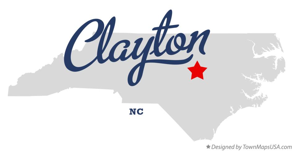 Map of Clayton North Carolina NC