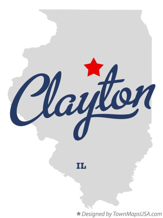 Map of Clayton Illinois IL