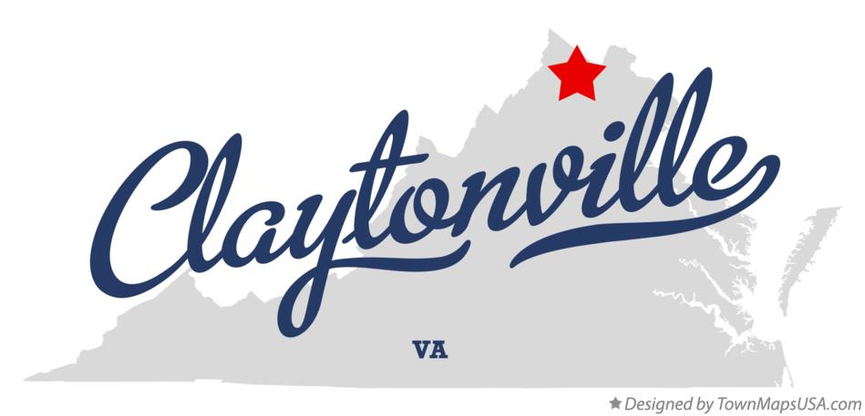 Map of Claytonville Virginia VA