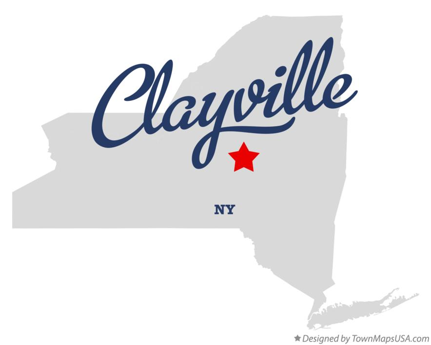 Map of Clayville New York NY
