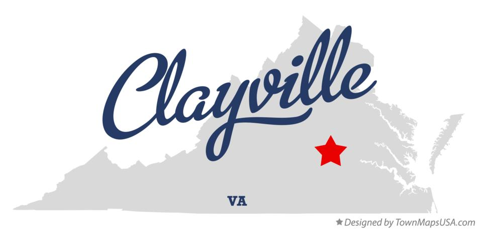Map of Clayville Virginia VA