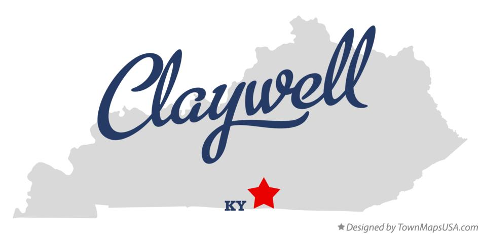 Map of Claywell Kentucky KY
