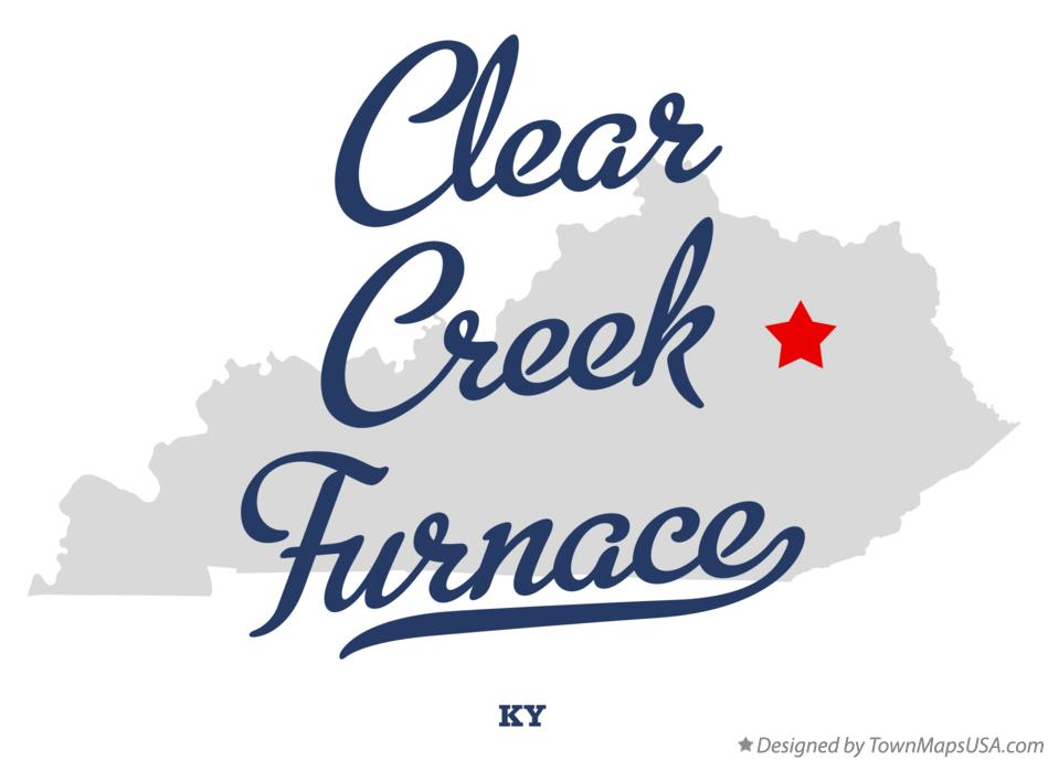 Map of Clear Creek Furnace Kentucky KY