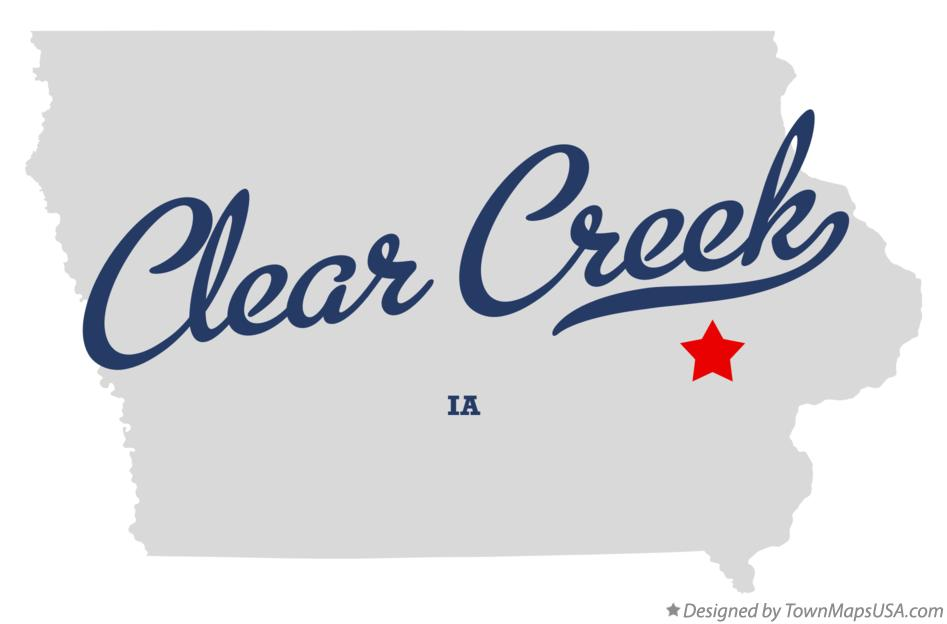 Map of Clear Creek Iowa IA