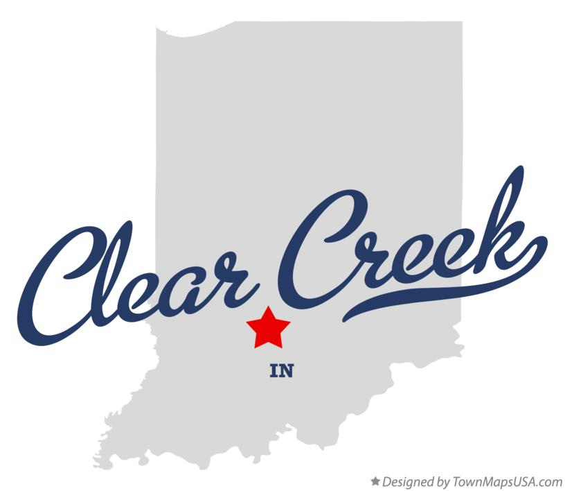 Map of Clear Creek Indiana IN