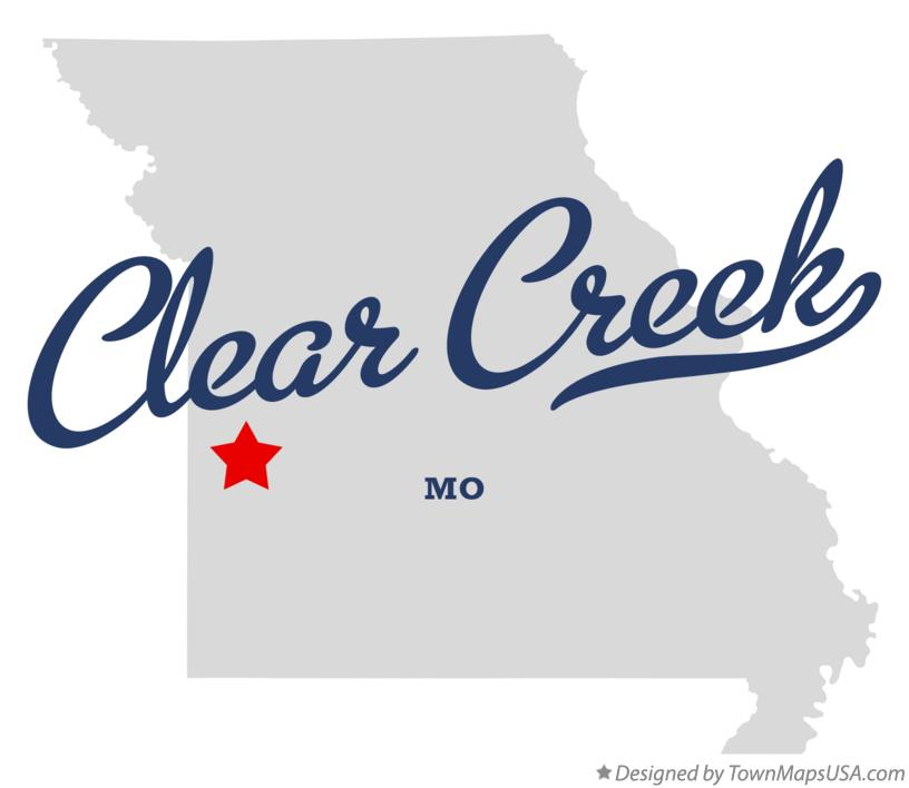 Map of Clear Creek Missouri MO
