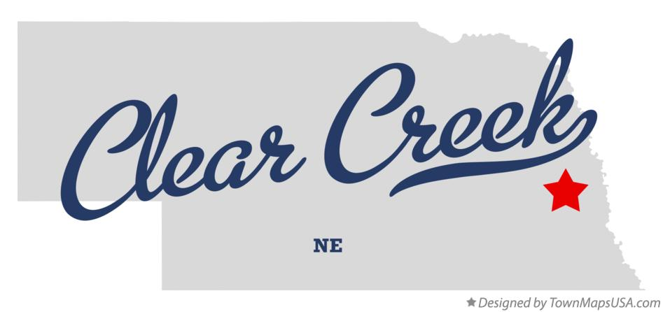 Map of Clear Creek Nebraska NE