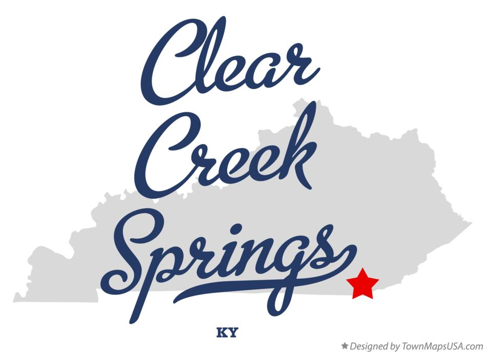Map of Clear Creek Springs Kentucky KY
