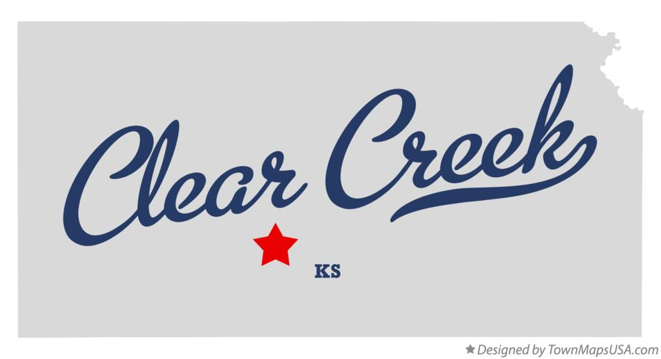 Map of Clear Creek Kansas KS