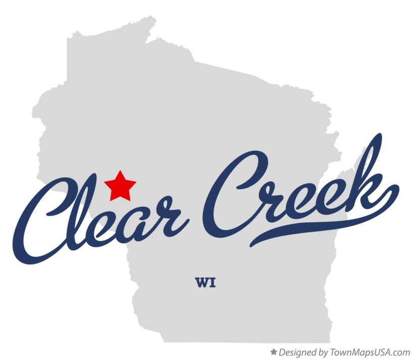 Map of Clear Creek Wisconsin WI