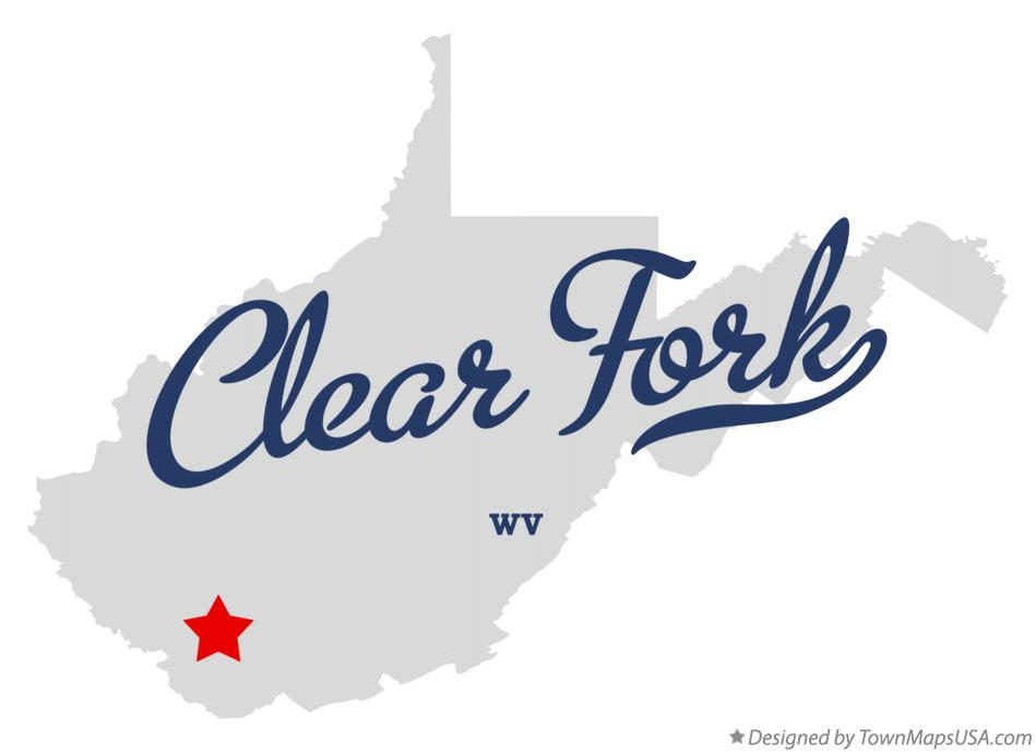 Map of Clear Fork West Virginia WV