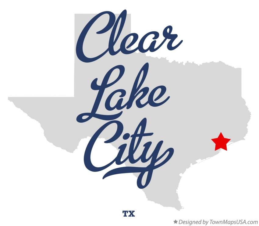 Map of Clear Lake City Texas TX