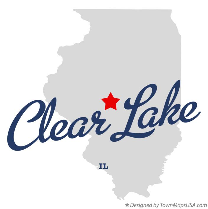 Map of Clear Lake Illinois IL