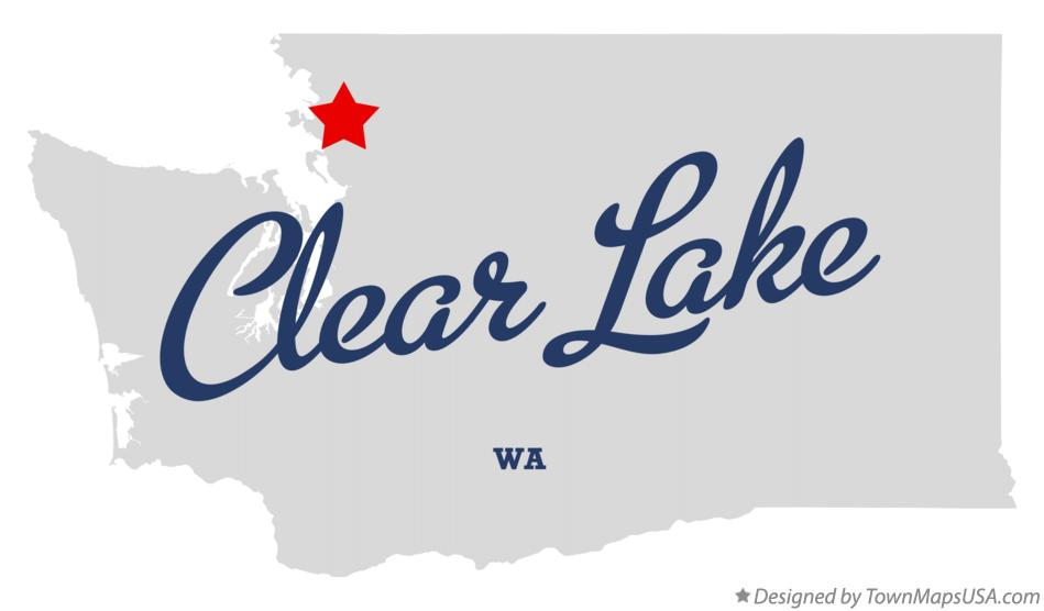 Map of Clear Lake Washington WA