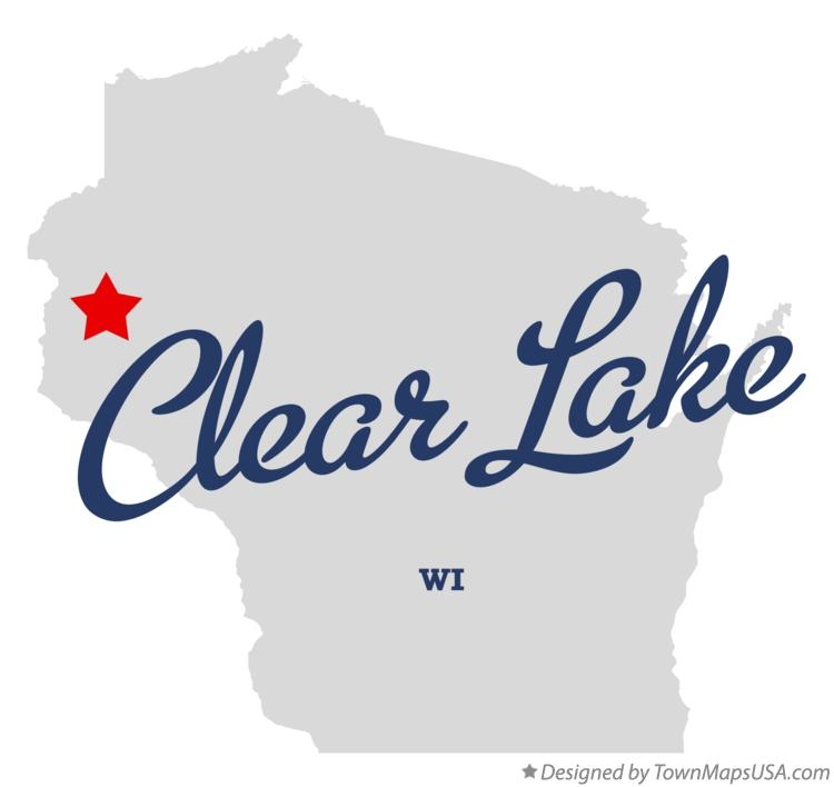 Map of Clear Lake Wisconsin WI