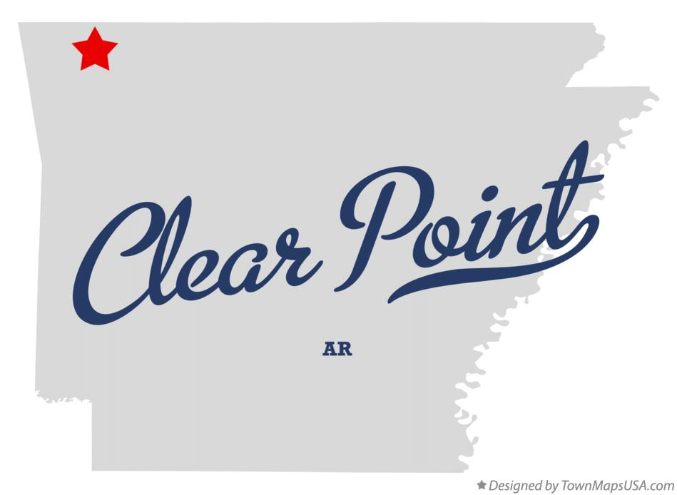 Map of Clear Point Arkansas AR