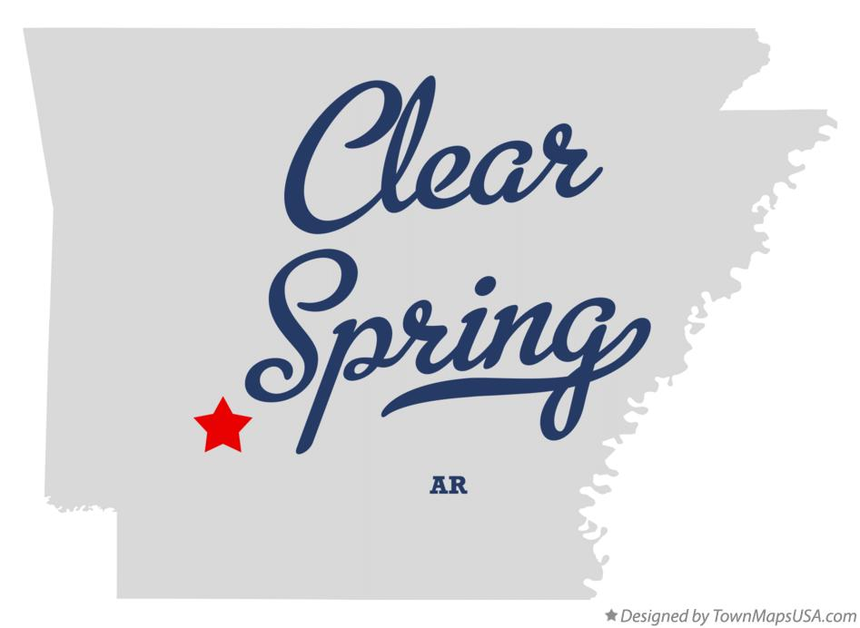 Map of Clear Spring Arkansas AR
