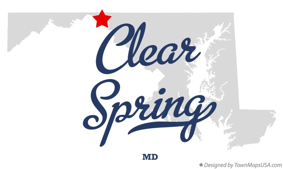 Map of Clear Spring Maryland MD