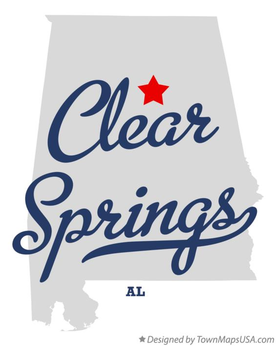 Map of Clear Springs Alabama AL