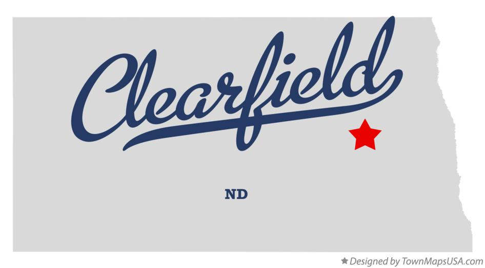 Map of Clearfield North Dakota ND
