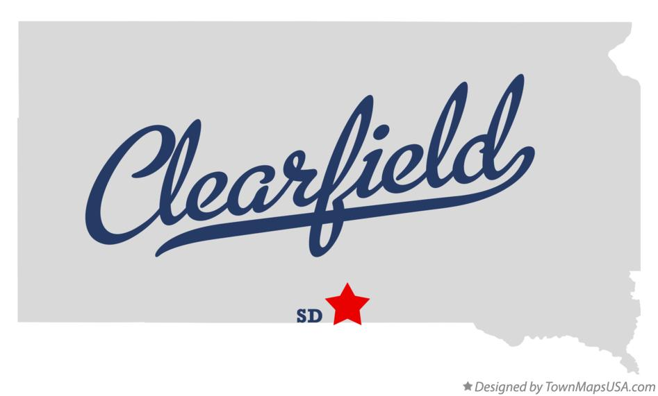 Map of Clearfield South Dakota SD