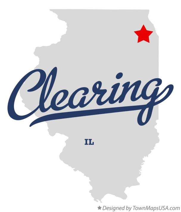 Map of Clearing Illinois IL