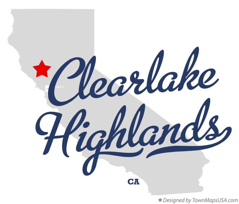 Map of Clearlake Highlands California CA
