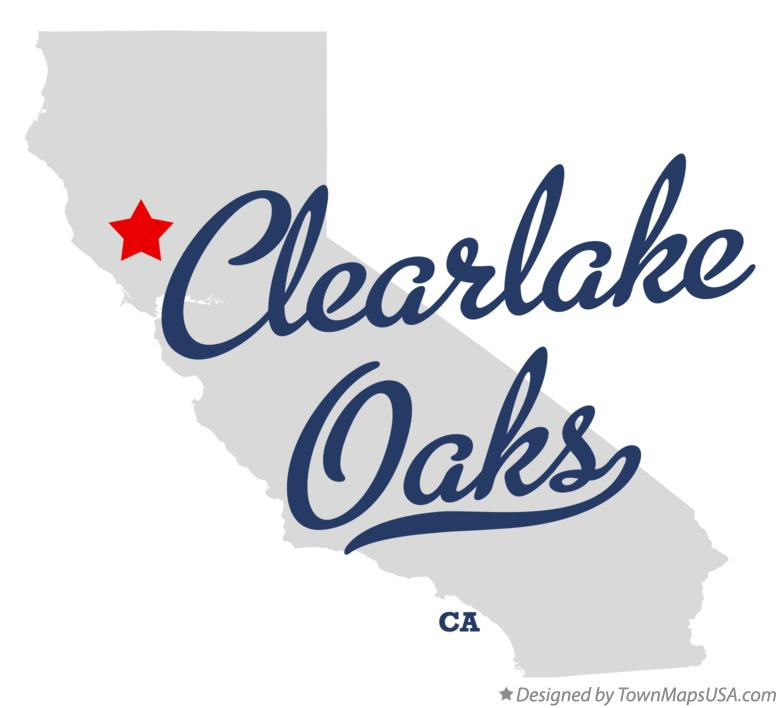 Map of Clearlake Oaks California CA