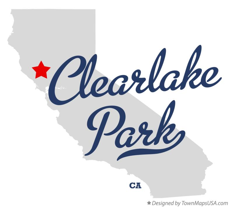 Map of Clearlake Park California CA