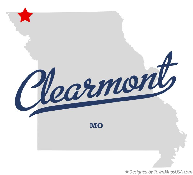 Map of Clearmont Missouri MO