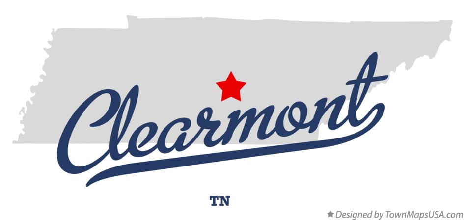 Map of Clearmont Tennessee TN