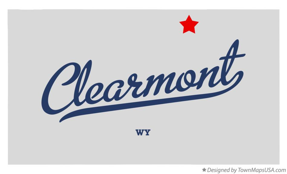Map of Clearmont Wyoming WY