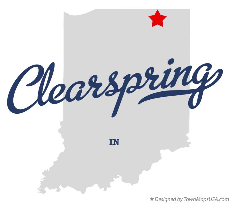 Map of Clearspring Indiana IN