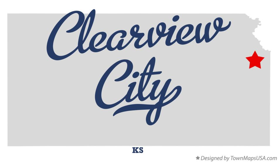 Map of Clearview City Kansas KS