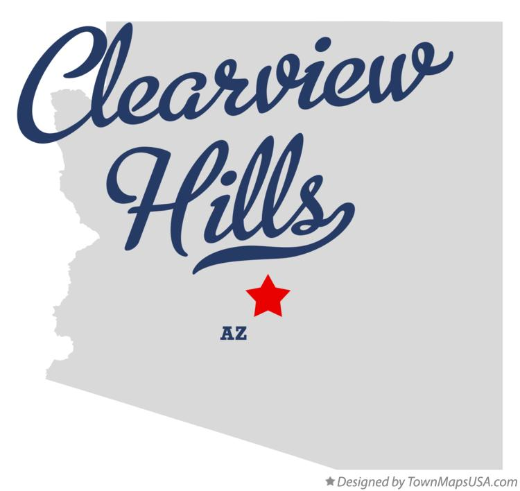 Map of Clearview Hills Arizona AZ