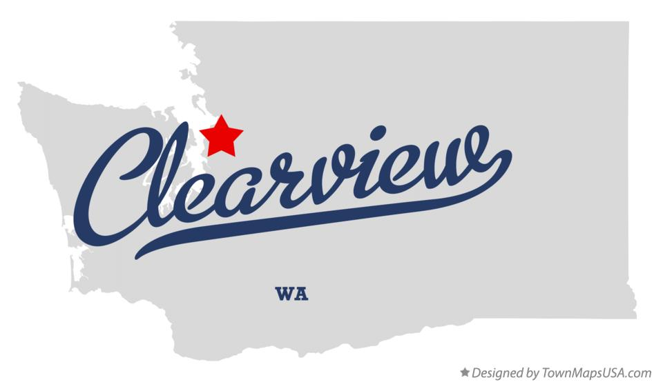 Map of Clearview Washington WA