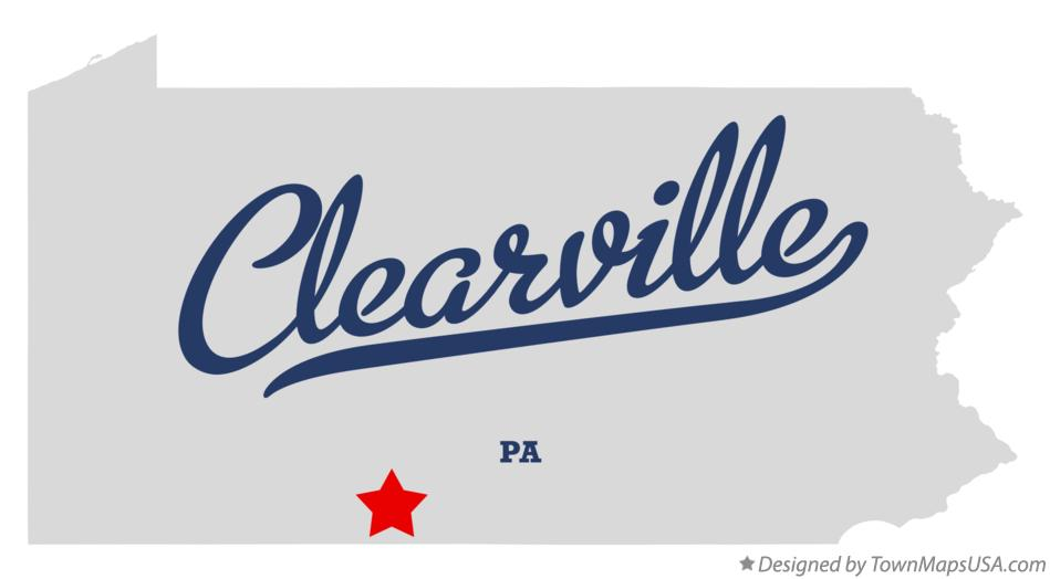 Map of Clearville Pennsylvania PA