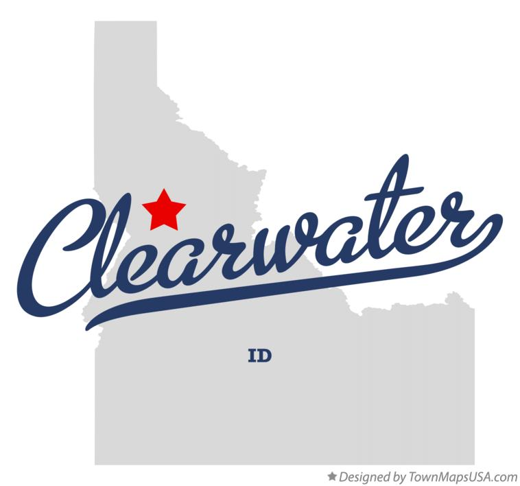Map of Clearwater Idaho ID