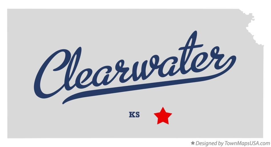 Map of Clearwater Kansas KS
