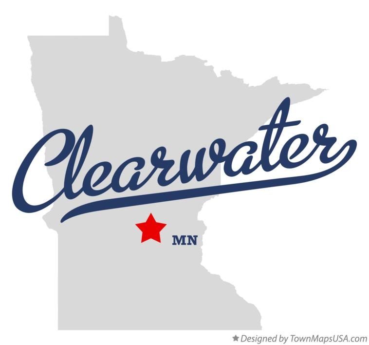Map of Clearwater Minnesota MN