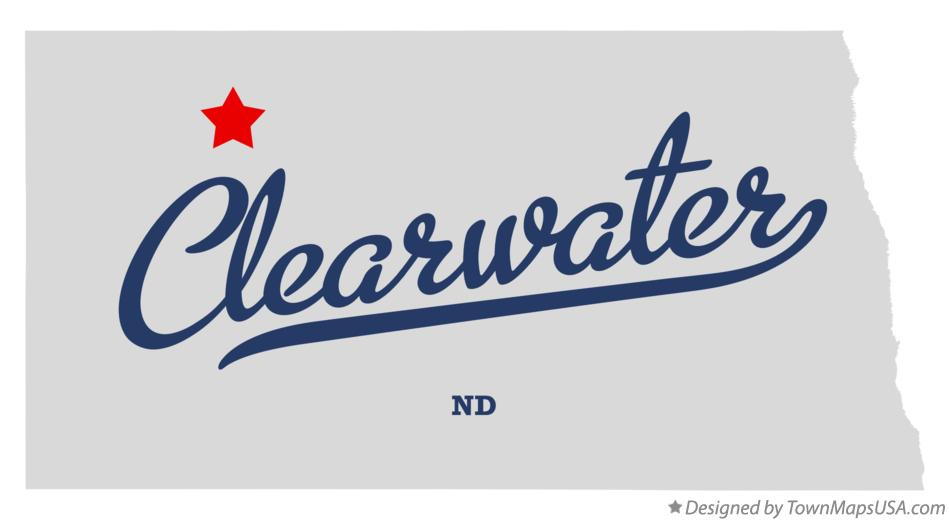 Map of Clearwater North Dakota ND