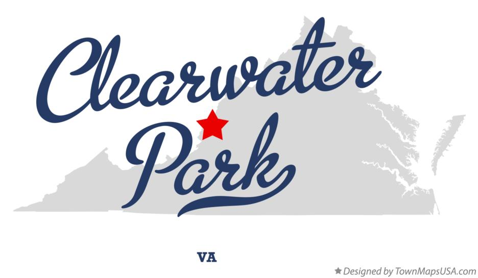 Map of Clearwater Park Virginia VA