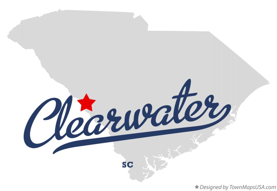 Map of Clearwater South Carolina SC