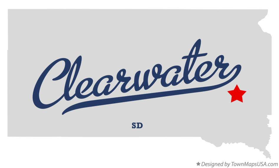 Map of Clearwater South Dakota SD