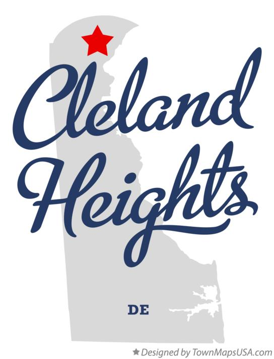 Map of Cleland Heights Delaware DE